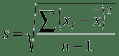 fórmula-desvio-padrão