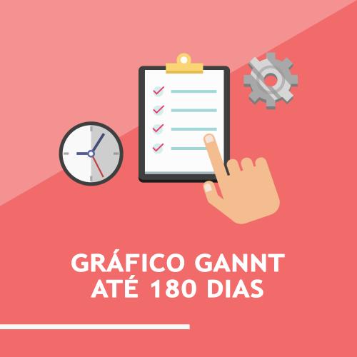 Gráfico GANTT até 180 dias